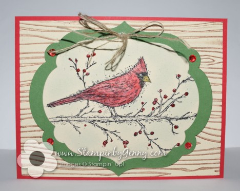 Stampin Up Beauty of the Season Christmas card