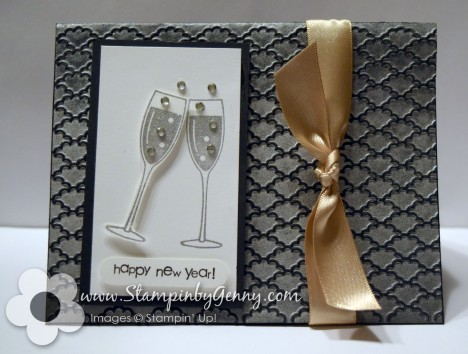 Happy New Year toast Stampin Up card