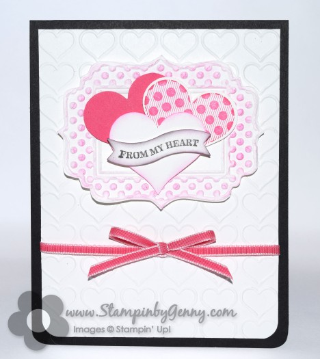 Stampin Up Valentine from the Heart card