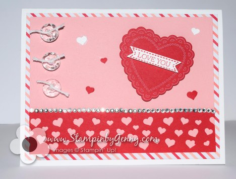 Stampin' Up! Valentine card