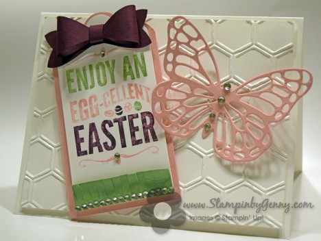 Stampin up For Peep's Sake Easter card