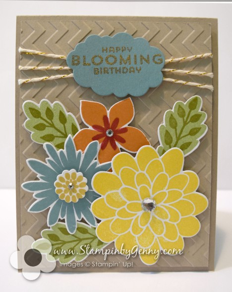 Stampin up Flower patch card