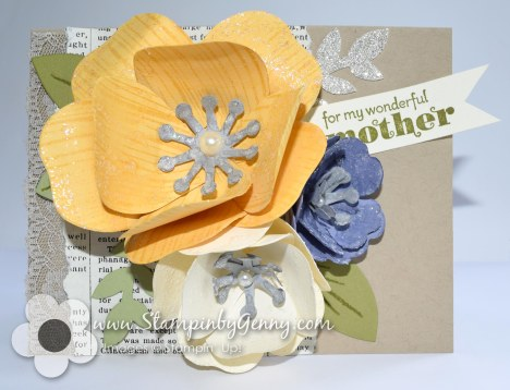 Stampin up Bouquet Bigz L Die mothers day card