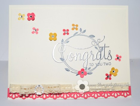 Stampin up Your Perfect Day wedding card