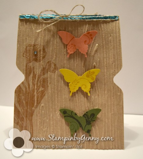 Envelope punch board notched papillion potpourri card