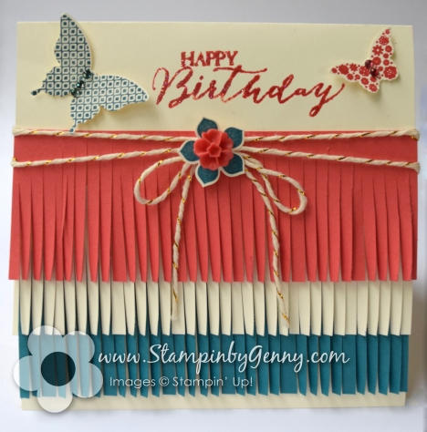 Stampin Up Birthday Basics Fringe Card
