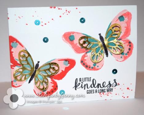 Stampin Up Watercolor Wings card