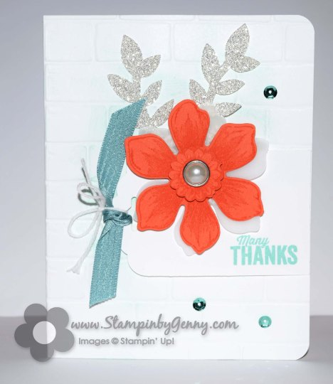 Stampin Up Beautiful Bunch Thank You card