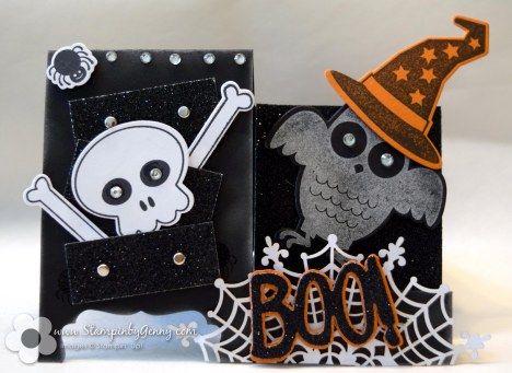 Stampin Up Halloween Howl-o-ween Treat Boo to You Framelits dies side step drawer card
