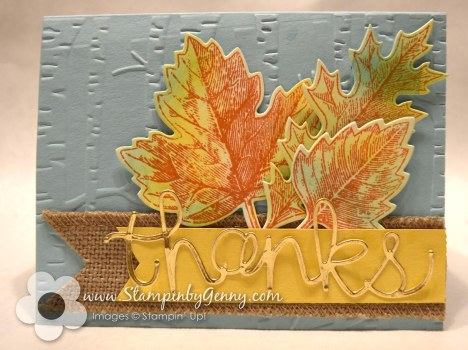 Thank you Vintage Leaves Stampin Up card