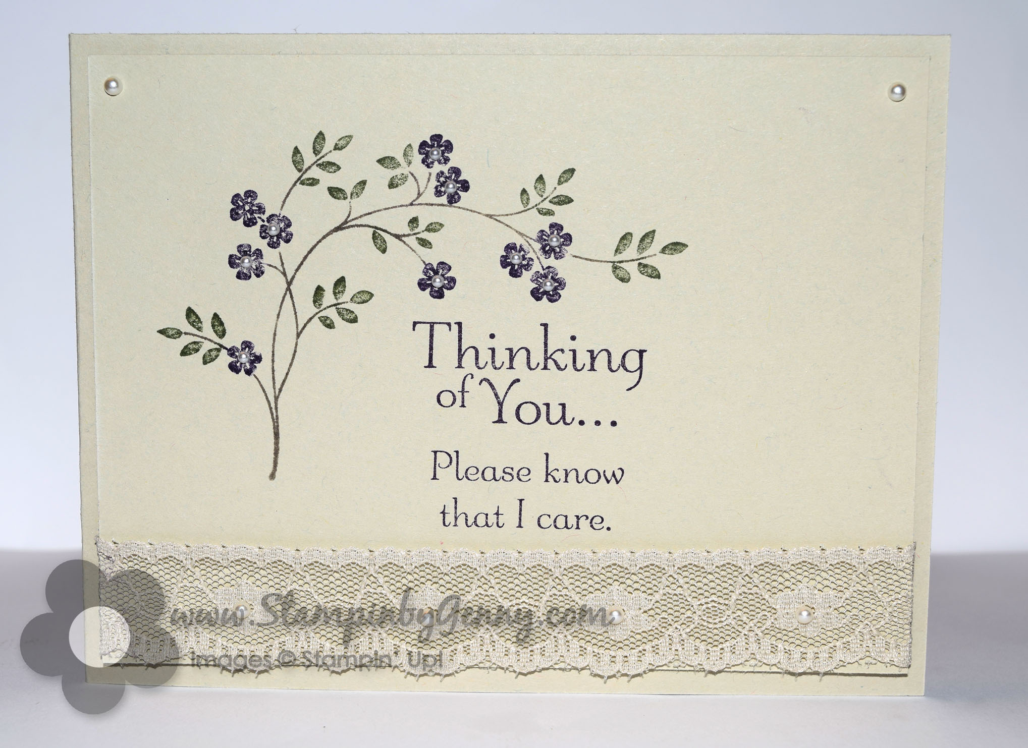 Stampin Up Thoughts And Prayers Sympathy Card Stampin By Gennys Blog