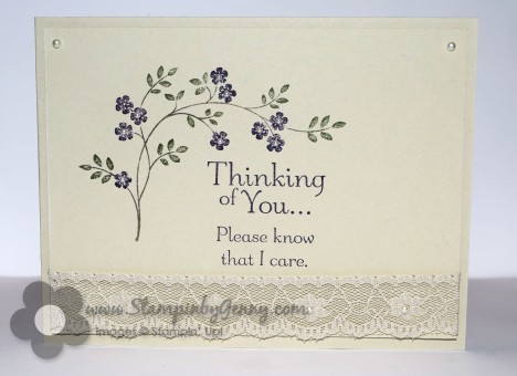 Stampin Up Thinking of You Sympathy card