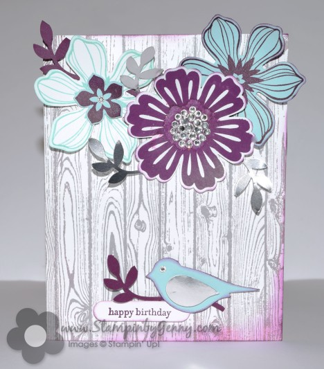 Stampin Up  Birthday Flower card