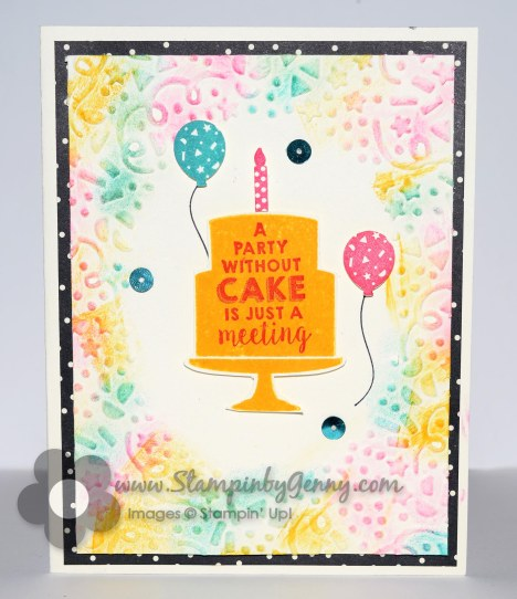 Stampin Up Party Wishes Birthday card