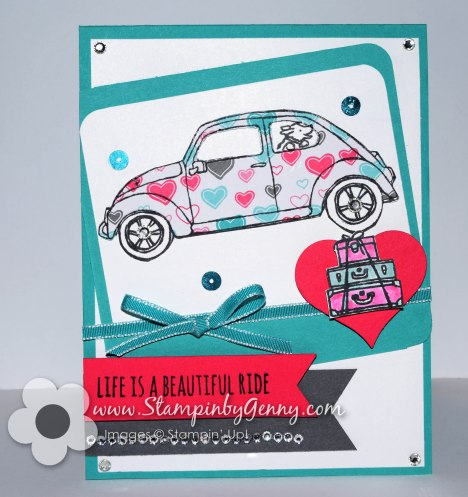 Stampin up Beautiful Ride card