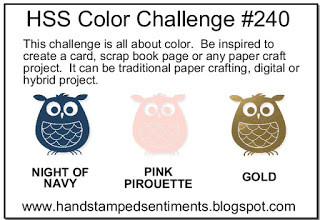 Image of 3 owls in different colors - Night of Navy, Pink Pirouette and Gold
