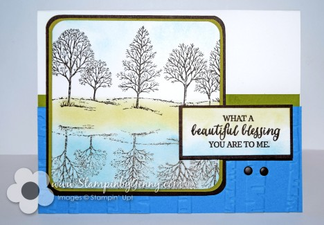 Stampin Up Lovely as a Tree card with You are a blessing to me sentiment