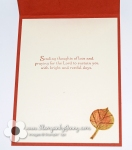 Sympathy card created with Stampin up Vintage leaves