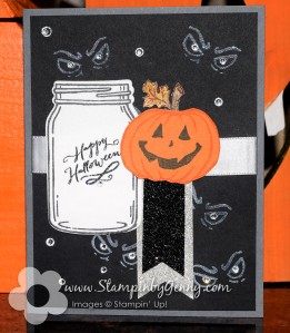 Stampin Up Jar of Haunts Halloween card