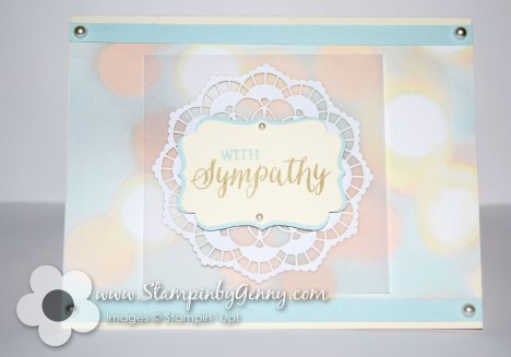 Stampin up Sympathy Card Bunch of Blossoms
