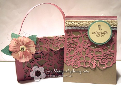detailed floral thinlits dies paper purse and card set