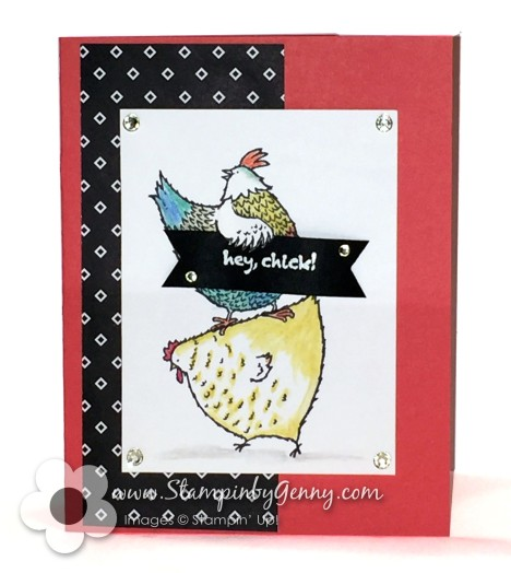 Stampin Up Hey Chcik card