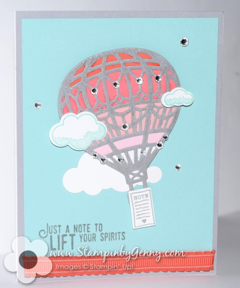 Stampin Up Lift me Up hot air balloon card