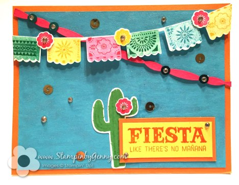 Stampin Up birthday fiesta card
