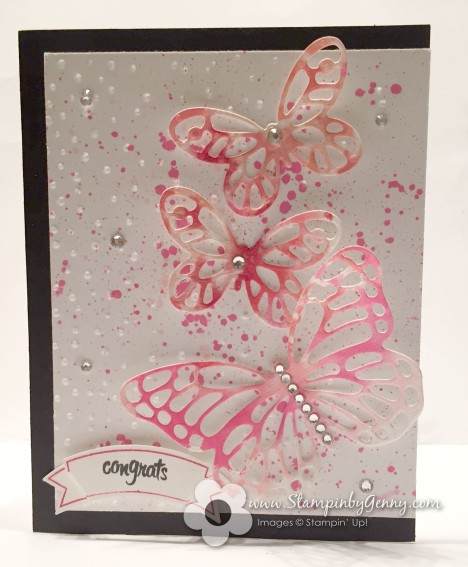 Stampin Up Cogratulation Butterflies card