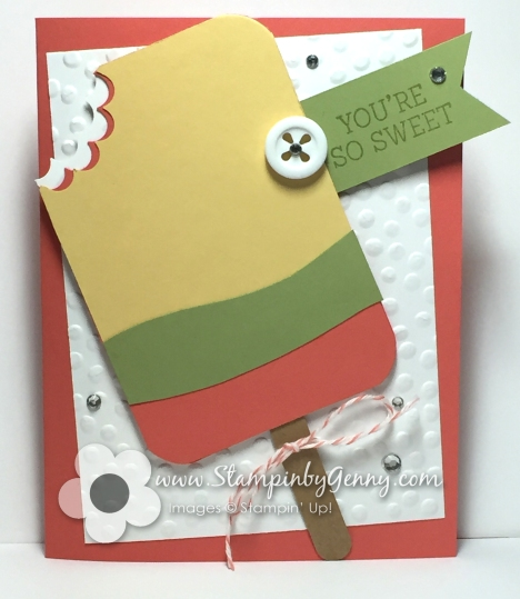 Stampin up popsicle card