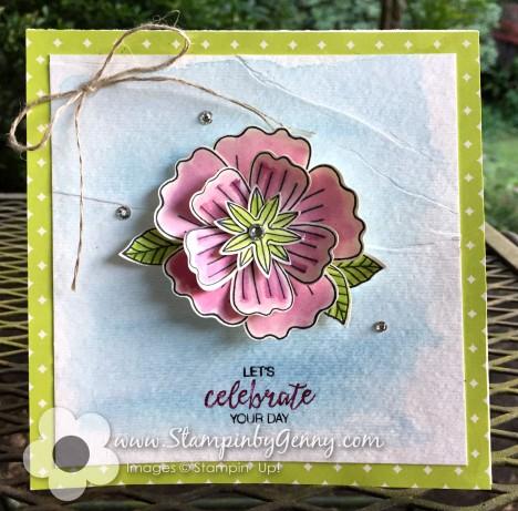 Stampin up Bunvh of Blossoms Birthday card