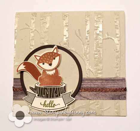 Stampin up Foxy Friends Hello card