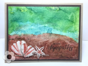 Blossom Builder Punch makes seashells Rose Wonder Sympathy card