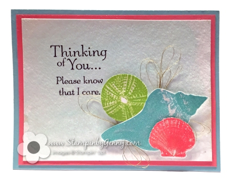 Stampin Up So Many Shells Sympathy card