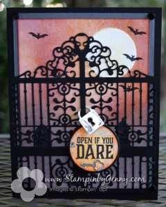 Stampin Up Graveyard Gate Halloween Card