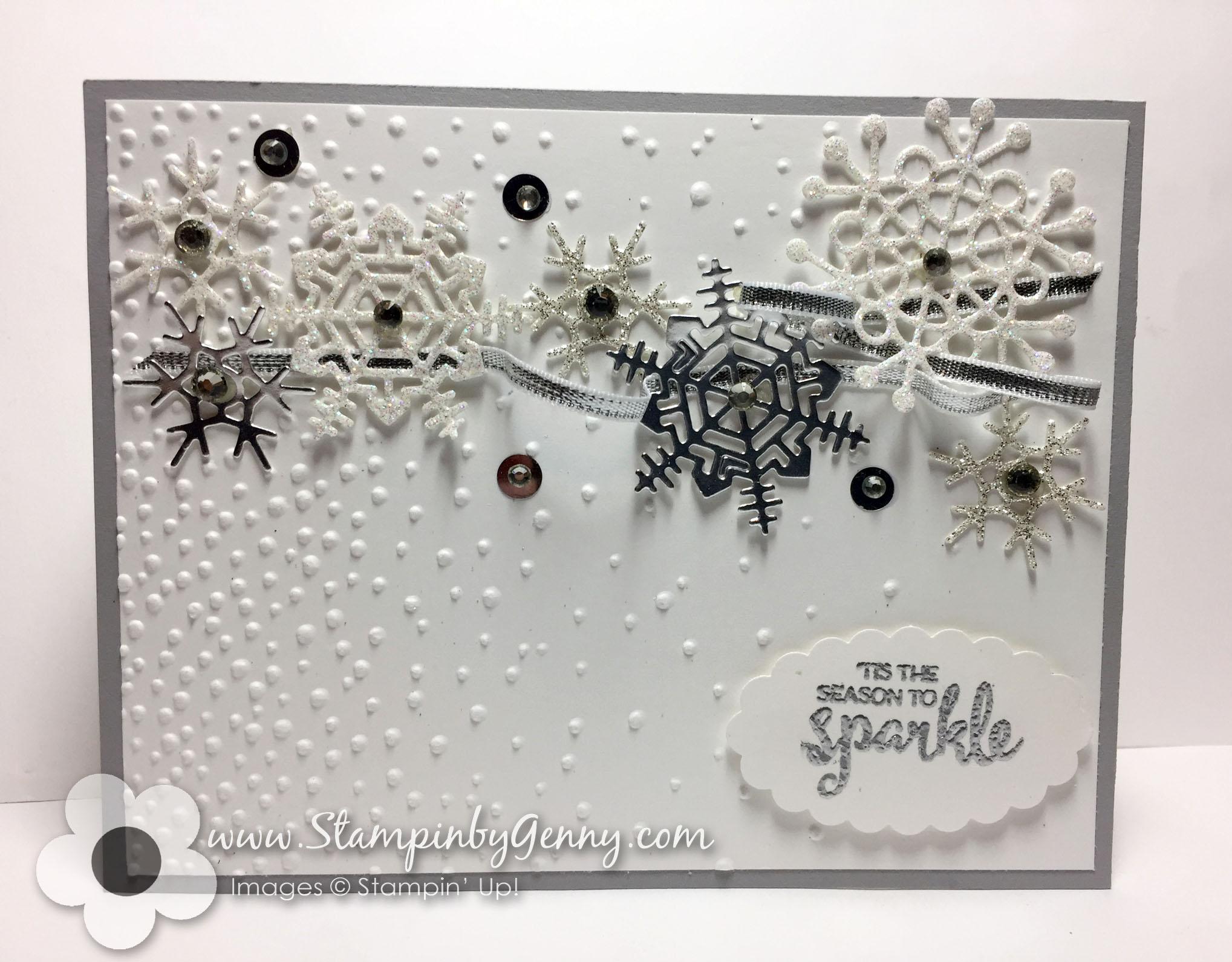 Stampin Up Seasonal Layers Snowflake Christmas card | Stampin\' by ...