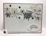 Stampin Up Seasonal Layers Snowflake Christmascard