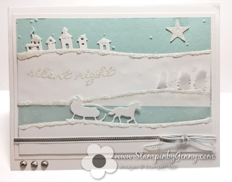 stampin up sleigh ride edgelits and jinlgle all the way bundle card