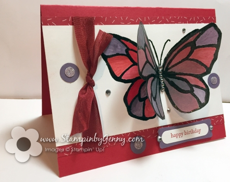 Stampin Up Beautiful Day Birthday card