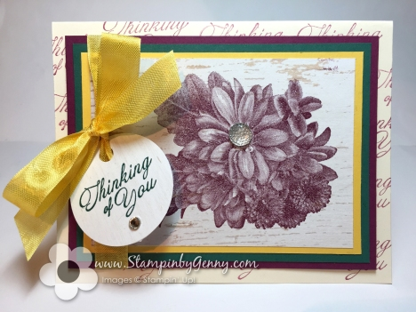 Stampin Up Thinking of You Heartflelt Bloom in Rich Raazzleberry