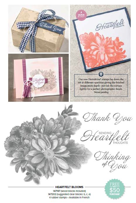 Stampin up Heartfelt Bloom stamp set