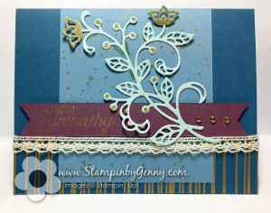 Stampin Up With Sympathy Flourishing Phrases card