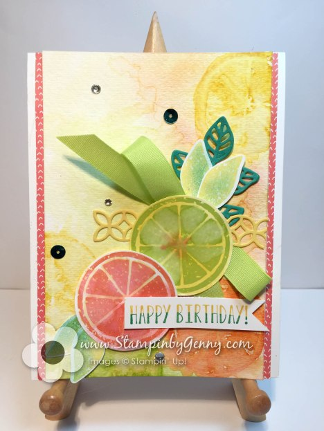 Stampin Up Lemon Zest Happy Birthday card