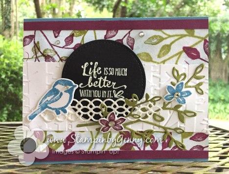 Stampin up Petal Palette bundle card
