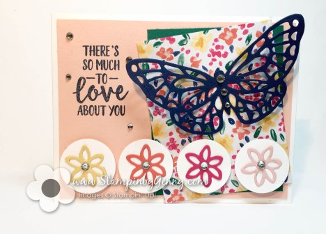 Stampin up Abstract Impressions card with butterfly