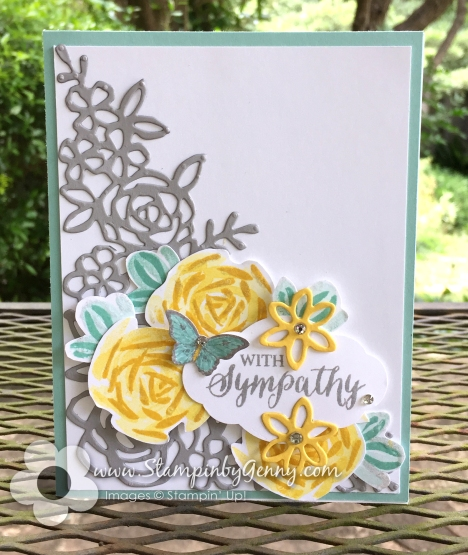 Stampin Up Abstract Impressions Sympathy card