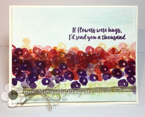 a card created with stampin up abstract impressions stamp set with a water color feel