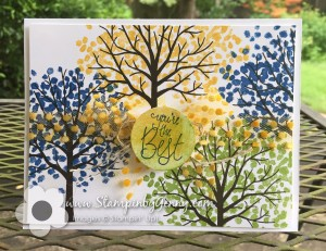 Stampin Up card made with Sheltering tree stampset with You're the best sentiment