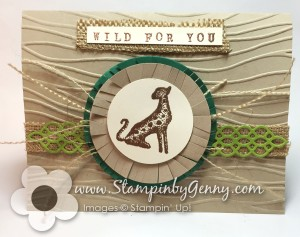 Cheetah card made with Stampin Up In the Wild stamp set
