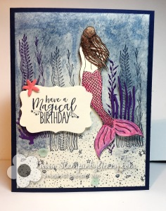 Stampin Up Magical Mermaid Birthday card